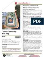 CROCHET - Katherine Eng - Granny Drawstring Tote Bag