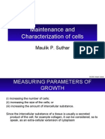 Lecture6-Maintenance and Charecterization of Cells