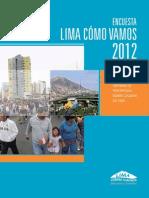 En Cuesta Lima Como Vamos 2012