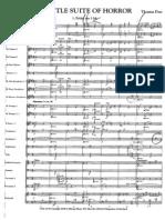 A Little Suite of Horror - Score