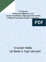 Statistik Kruskall Wallis Uji Beda Tiga Atau Lebih Sampel