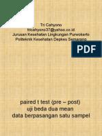 Statistik t Test Paired Data Berpasangan