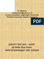 Statistik t Test Paired Data Berpasangan