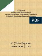 Statistik X2 (Chi – Square)  tabel rxc & 2x2