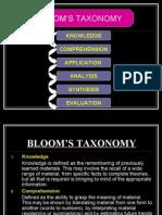 Bloom's Taxonomy 2003