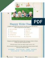Happy Kids Class Information 2014