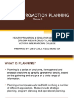 Modul 5 - Health Promotion Planning