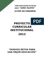 INSUMOS PARA LA DIVERSIFICACIÓN CURRICULAR 2012