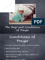 conditions of prayer