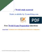 Exam 70-643 preparation questions