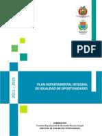 Plan Departamental de Igualdad de Oportunidades de Cochabamba.