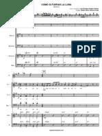 Como Si Fueras La Luna (partitura - music)