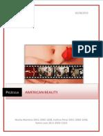 Análisis película American Beauty