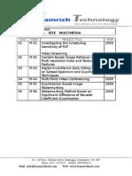 IEEE Multimedia Titles 2009-2010