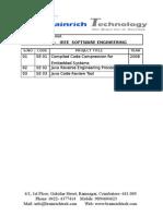 IEEE Software Engineering Titles 2009-2010