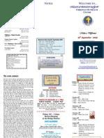 Newsletter 13 Sept 09