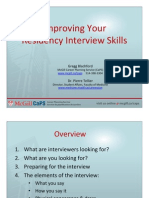 Improving Your Residency Interview Skills 2009