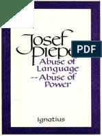 Abuse of Language -- Abuse of Power - Josef Pieper