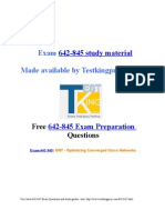 Exam 642-845 preparation questions