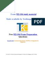 Exam 922-104 preparation questions