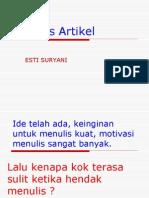 Menulis Artikel XI