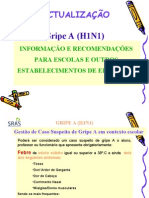 Gripe A (H1N1) - Actualização - Escolas