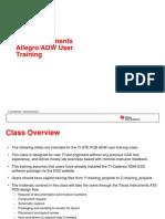 TI Allegro ADW User Training Slides