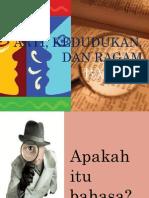 Arti, Kedudukan, Dan Ragam Bahasa