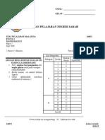 Maths K2 SPM Sabah 2009