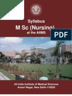 Syllabus - M Sc (Nursing)
