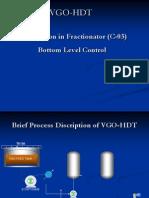 Stabilization in Fractionator (C-03) Bottom Level