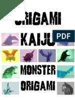 Origami Kaiju Monster Origami