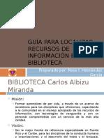 Guía para localizar recursos de información en la Biblioteca