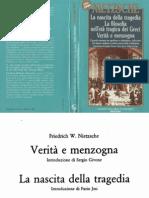 Nietzsche - 1870, Verità e Menzogna, Colli, Montinari