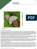 In Search of Kancheepuram Idli - The Hindu