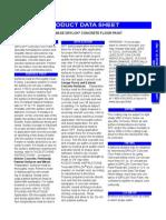 DRYLOK Masonry - DRYLOK Latex Concrete Floor Paint - Data Sheet