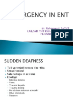Emergency in ENT