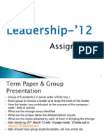Leadership - Term Paper - Presention (1)