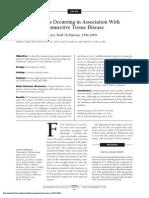 Calcinosis Cutis Occurring in Association With Autoimmune Connective Tissue Disease