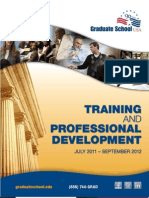Training and Professional Development Catalog 2012