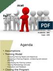 Communication Skills training model for Supervisors