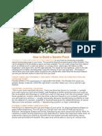 How to Build a Garden Pond