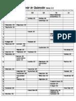 Kalender der Glaubensväter