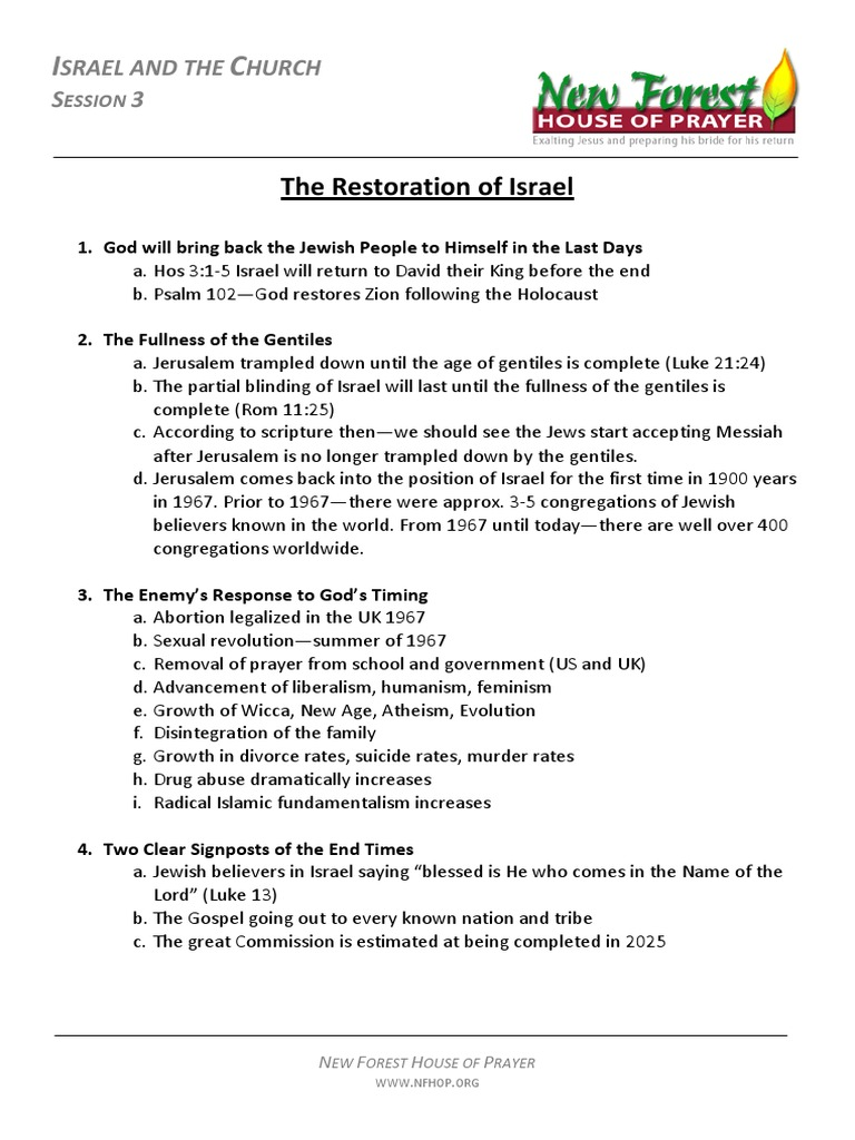 Jed Robyn-Israel and the Church 3 Restoration of Israel,p2