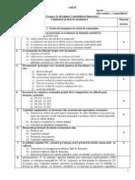 Test contabilitatea financiara