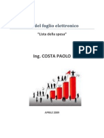 Excel Lista Della Spesa