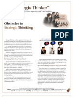 Strategic Thinker Issue 2.2009 - Obstacles to Strategic Thinking