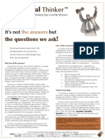 Critical Thinker Issue 2.2009 - Questions