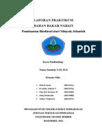 """laporan praktikum """"pembuatan biodiesel dari minyak jelantah"""""""