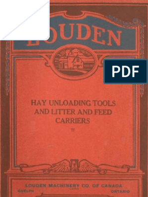 1918) Louden Hay Unloading Tools (Catalogue) | Rope